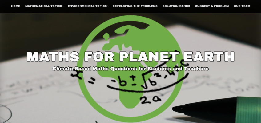New website on incorporating environmental and climate change issues into maths education