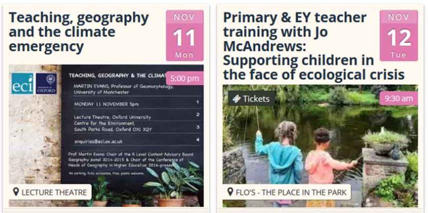 2 workshops for teachers this November