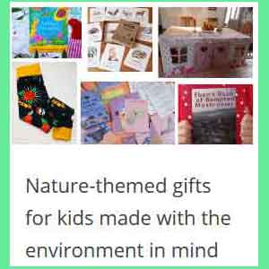 Nature-themed gifts for kids made with the environment in mind